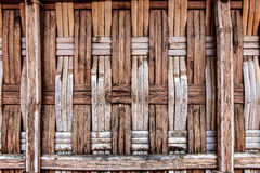 Old traditional bamboo wall Stock Image