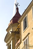 Old traditional buildings at Corfu Royalty Free Stock Images
