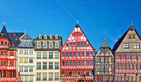 Old traditional buildings in Frankfurt. Germany Stock Images