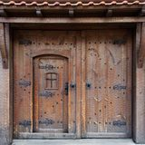 Old traditional Bulgarian door Stock Photo