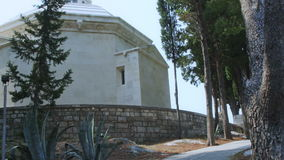 Old traditional cemetery with mausoleum in Cavtat stock video