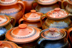Old traditional ceramics stock photography