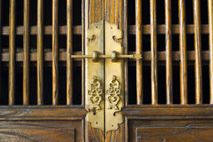 Old traditional Chinese door Stock Photo