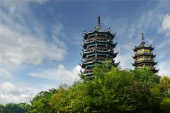 Old traditional chinese pagoda royalty free stock photos
