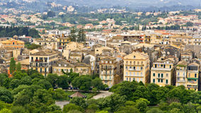 Old traditional city in Greece. Old traditional city of Corfu in Greece Royalty Free Stock Image