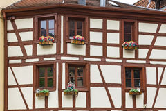 Old traditional colorful half-timbered houses in Colmar, France Royalty Free Stock Image