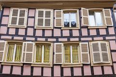 Old traditional colorful half-timbered houses in Colmar, France Stock Image