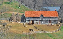Old traditional countryside house in Romania royalty free stock photography