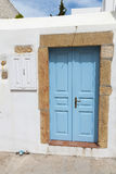 Old traditional door at Patmos island in Greece Royalty Free Stock Photos