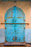 Old traditional doorway in the Moroccan town of Essaoira. Stock Image