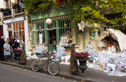 The old traditional French cafe Au vieux Paris d`Arcole, France. Stock Photo