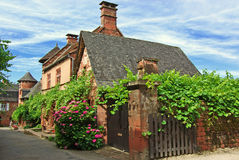 Old Traditional French House. Collonges La Rouge Royalty Free Stock Images
