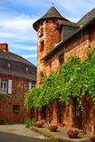 Old traditional French house. Collonges La Rouge Stock Image