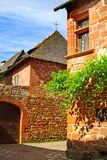 Old traditional French house. Collonges La Rouge Royalty Free Stock Photography