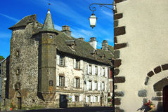 Old traditional French house.Salers. On the photo: Old traditional French house.Salers Royalty Free Stock Photo