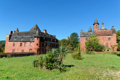 Old traditional French houses in Collonges La Rouge. Collonges-la-Rouge is entirely built with red sandstone. Its existence is proven since the 8th century Royalty Free Stock Image