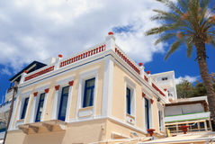 Old traditional greek house on Naxos island Royalty Free Stock Photos