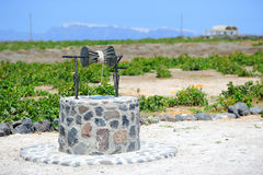 Old traditional Greek well on Santorini Royalty Free Stock Photo