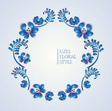 Old traditional gzel ornament. Decorative floral wreath Royalty Free Stock Image