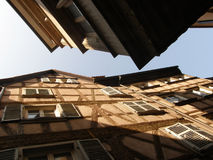 Old traditional half-timbered houses Stock Photos