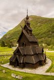 Traditional historic Borgund stave church, Fjordane, Norway. Old traditional historic Borgund stave church, Fjordane, Norway Royalty Free Stock Photography