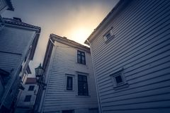 Old traditional homes in Bergen Stock Photo