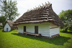 Old traditional house. Very old wooden house with ethnographic values on a countryside Royalty Free Stock Photos