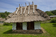Old traditional house. Very old wooden house with ethnographic values on a countryside Royalty Free Stock Image