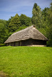 Old traditional house. Very old wooden house with ethnographic values on a countryside Stock Images