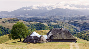 Old traditional house from Carpathian Mountains Royalty Free Stock Images