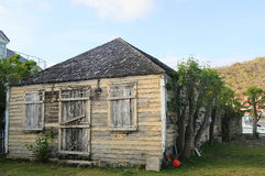 Old traditional house in Gustavia at St Barts. ST BARTS, FRENCH WEST INDIES - JUNE 11, 2015:Old traditional house in Gustavia at St Barts. It is the only royalty free stock photos