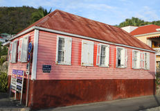 Old traditional house in Gustavia at St Barts. ST BARTS, FRENCH WEST INDIES - JUNE 11, 2015:Old traditional house in Gustavia at St Barts. It is the only stock images
