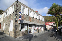 Old traditional house in Gustavia at St Barts Royalty Free Stock Photography