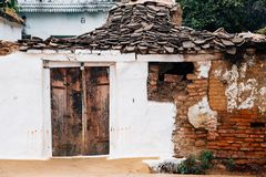 Old traditional house in India stock image