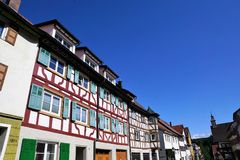 House in neuhausen an der donau in germany. Old traditional house in neuhausen at danube in south germany close to tuttlingen in Europe Stock Photo