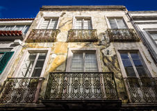 Old traditional house in Ponta Delgada Royalty Free Stock Photography