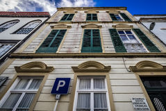 Old traditional house in Ponta Delgada Stock Image