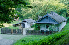 Old traditional house in Romania. Old traditional house located in the picturesque landscape, Romania Stock Photos