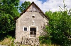 Old traditional house in Slovak village Vlkolinec, Slovakia Stock Image