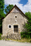 Old traditional house in Slovak village Vlkolinec, Slovakia Stock Images
