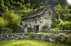 Old traditional house in Switzerland Stock Images
