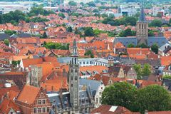 Old Traditional Houses in Brugge Royalty Free Stock Images