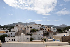 Old traditional houses. The old traditional city of Nisyros, Greece Stock Image