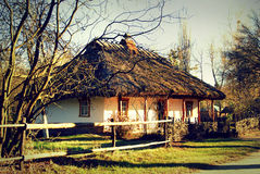 Old traditional hut, Ukraine, artistic image Royalty Free Stock Photography