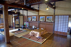 Old traditional Japanese House Interior Stock Image