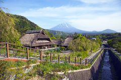 Free Old Traditional Japanese Houses And Mount Fuji Royalty Free Stock Photography - 79512237