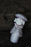 Old traditional Japanese prayer doll Stock Photo