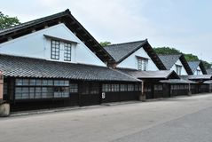 Old traditional Japanese warehouses Stock Images