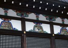 Old traditional Japanese wood decoration background. Old traditional Japanese wood decoration royalty free stock photos