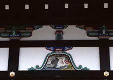 Old traditional Japanese wood decoration background royalty free stock images